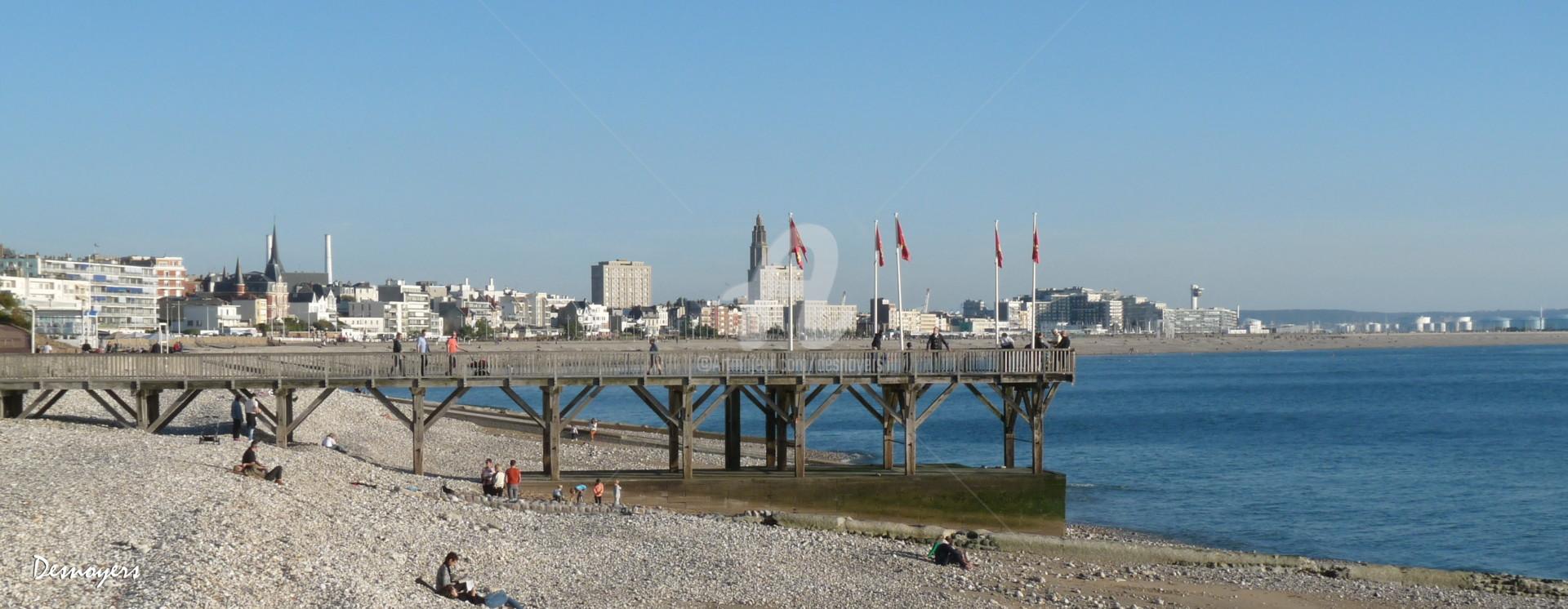 DESNOYERS - Le Havre vue de Ste Adresse