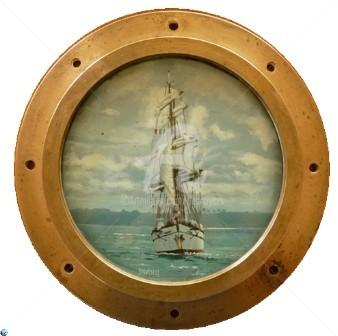 DESNOYERS - Hublot marine en bronze