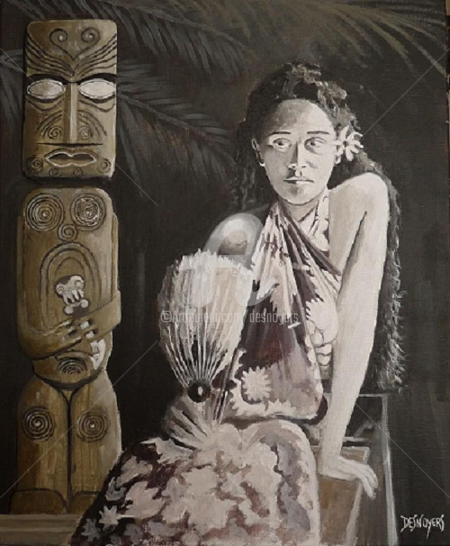Desnoyers - Modèle de Gauguin de la Jeune Fille à l'éventail