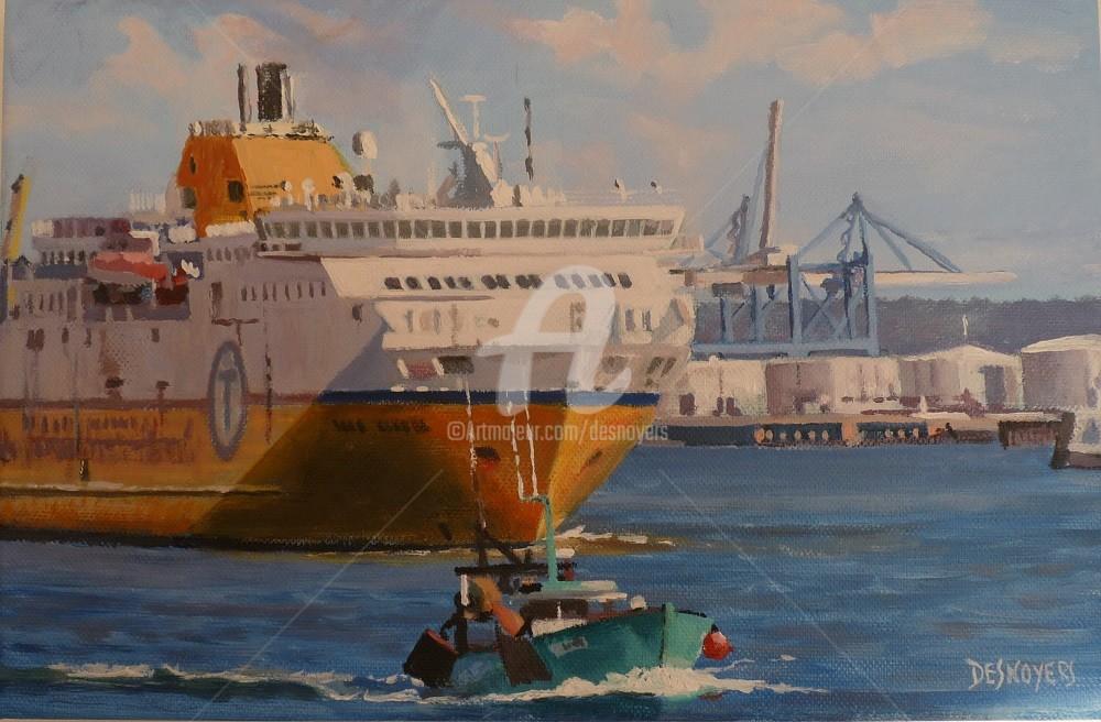 DESNOYERS - Départ du Ferry du Havre