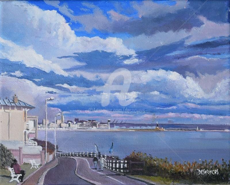 Desnoyers - Le Havre vue de Ste Adresse #artistsupportpiedge