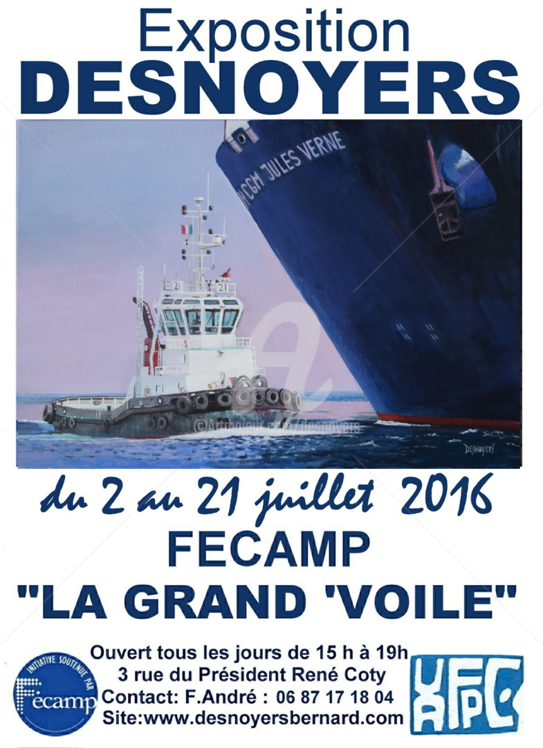 Desnoyers - EXPOSITION DESNOYERS FECAMP 2016