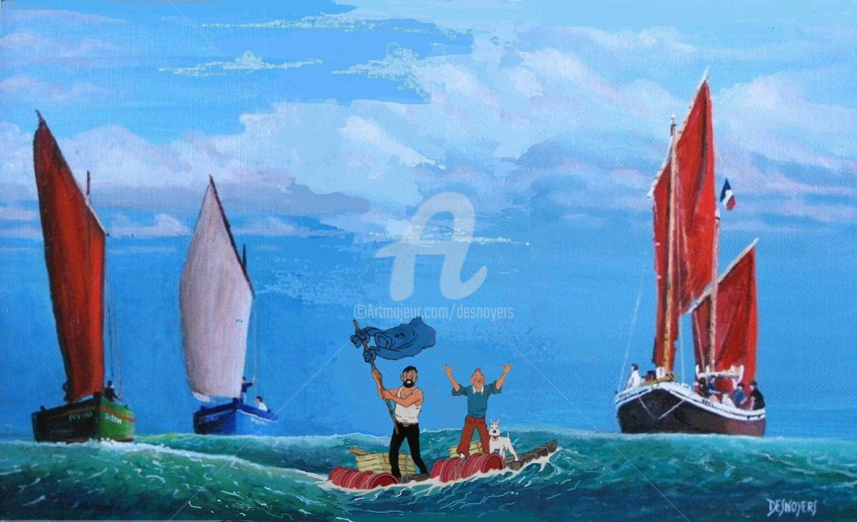 DESNOYERS - Voiliers & Tintin