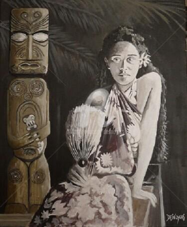 Modèle de Gauguin de la Jeune Fille à l'éventail