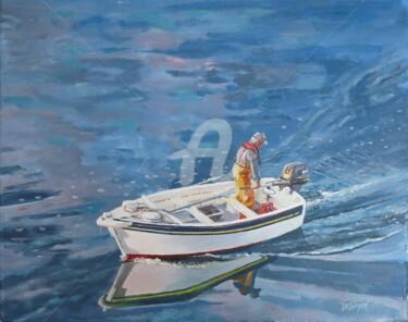 Canot en mer d'Iroise