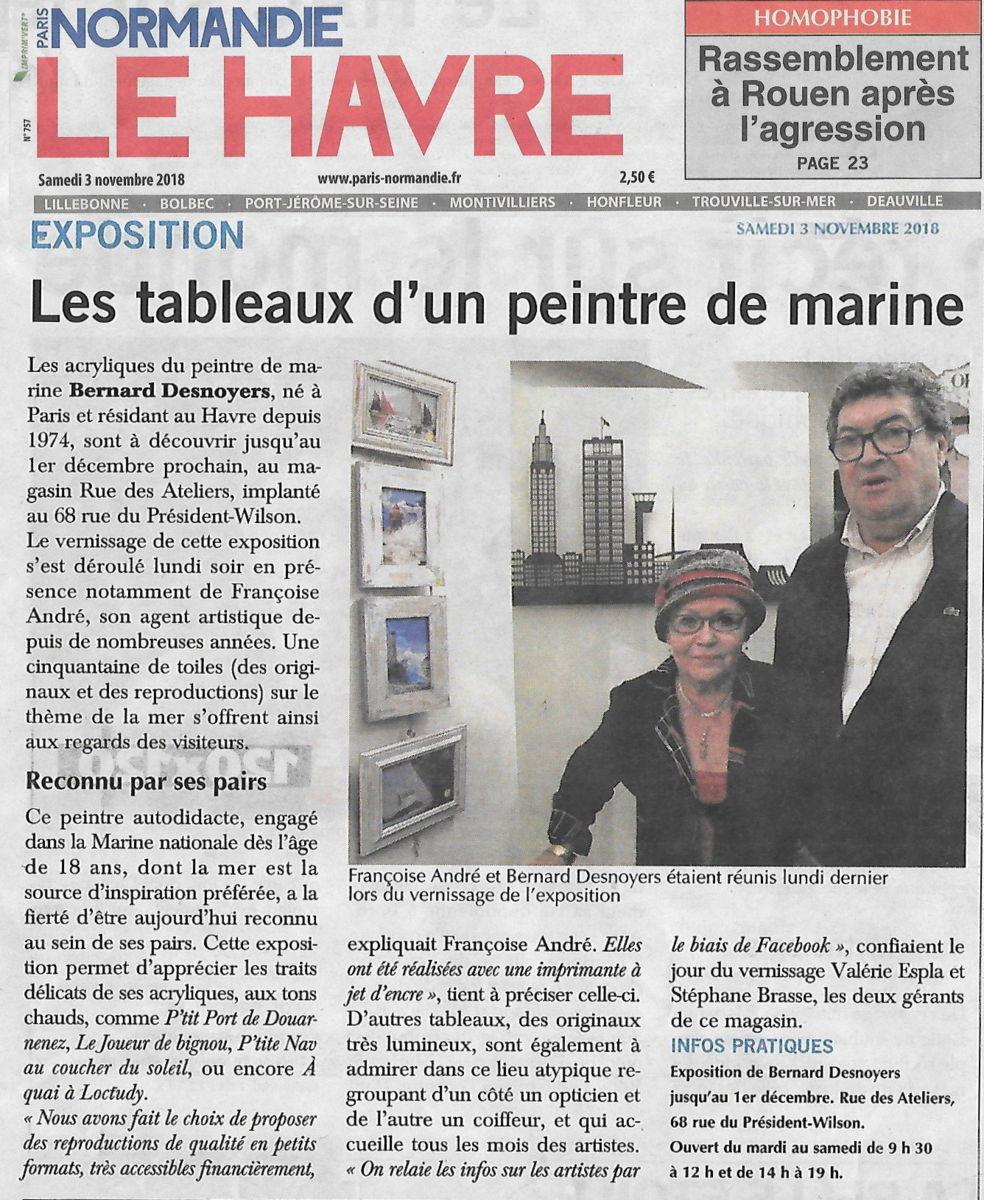 EXPOSITION DESNOYERS LE HAVRE RUE DES ATELIERS