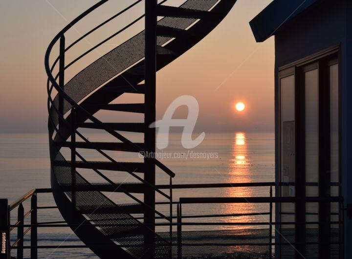 DESNOYERS - Coucher de soleil au Havre