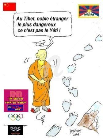 DESNOYERS - Un dessin pour le Tibet