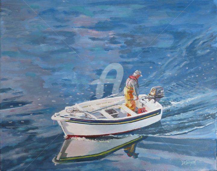 DESNOYERS - Canot en mer d'Iroise