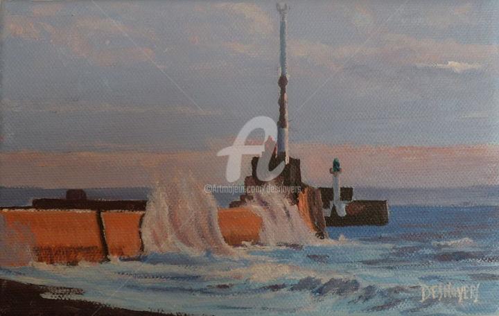 DESNOYERS - L'entrée du port du Havre